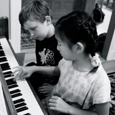Kids Practicing Piano