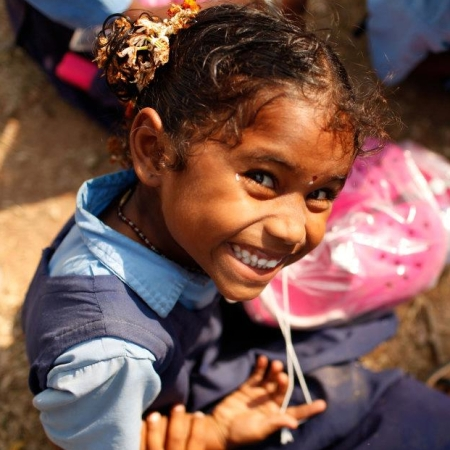 Little Girl in Kalavai